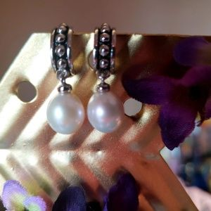 REAL Pearl Earrings!! From Macy's! NEW! NEVER WORN